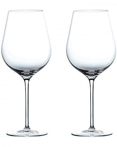 Wedgwood Crystal Globe Crystal Red Wine Glasses, Pair