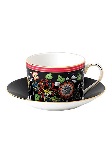 Wedgwood Wonderlust Fine Bone China Teacup and Saucer Set Oriental Jewel