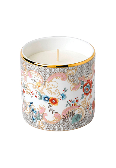 Wedgwood China Wonderlust Rococo Flowers Candle, White Peony and Orange Blossom