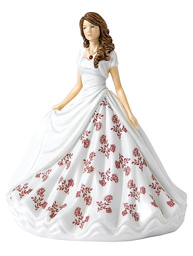 Royal Doulton Pretty Ladies Birthstone Petites January, Garnet