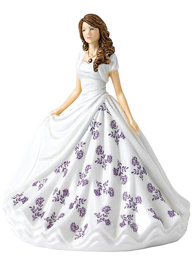 Royal Doulton Pretty Ladies Birthstone Petites February, Amethyst