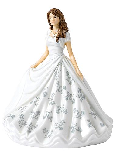 Royal Doulton Pretty Ladies Birthstone Petites April Diamond