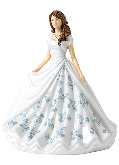 Royal Doulton Pretty Ladies Birthstone Petites June Pearl