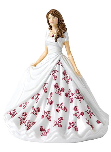 Royal Doulton Pretty Ladies Birthstone Petites July Ruby