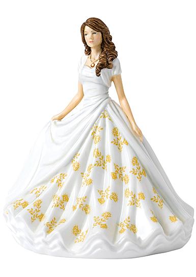 Royal Doulton Pretty Ladies Birthstone Petites November Topaz