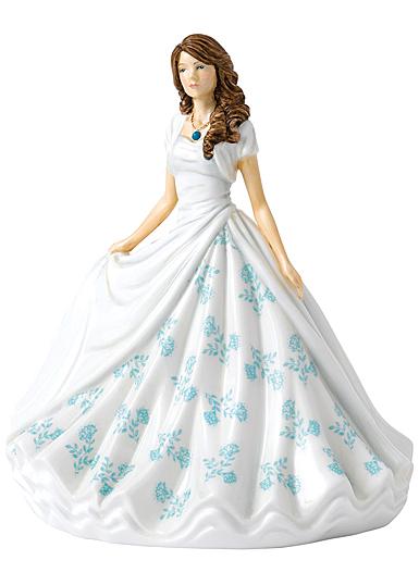 Royal Doulton Pretty Ladies Birthstone Petites December, Turquoise