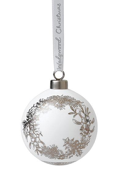 Wedgwood Fine Bone China Wreath Christmas Ornament