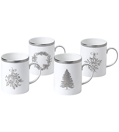Wedgwood 2019 Winter White Mug Set of Four