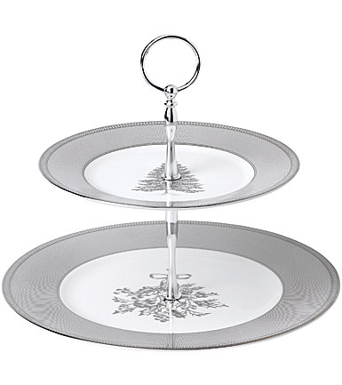 Wedgwood 2019 Winter White Cake Stand Two-Tier