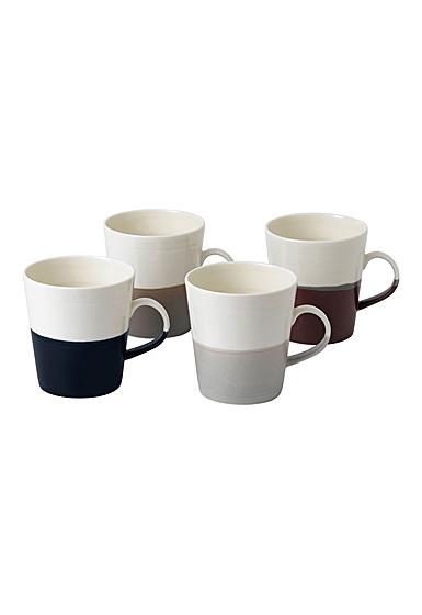 Royal Doulton Coffee Studio Mug Grande 19 Oz Set of 4 Mixed Colors