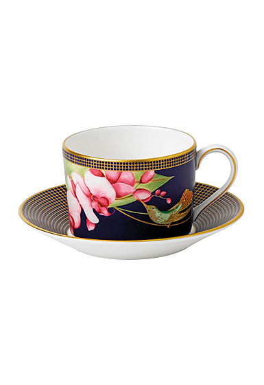 Wedgwood China Hummingbird Teacup and Saucer Set