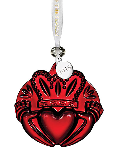 Waterford 2019 Claddagh Ornament, Red