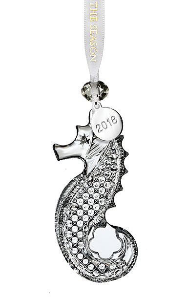 Waterford 2018 Clear Seahorse Ornament