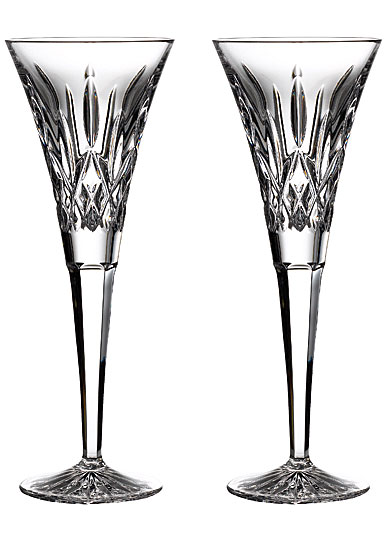 Waterford Crystal Lismore Toasting Flutes, Pair