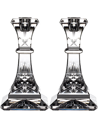 "Waterford Crystal Lismore Candlestick 6"" Pair"