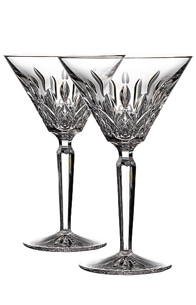 Waterford Crystal Lismore Martini Glasses, Pair