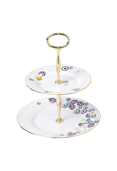Royal Albert Alpha Foodie Cake Stand Two-Tier Pink