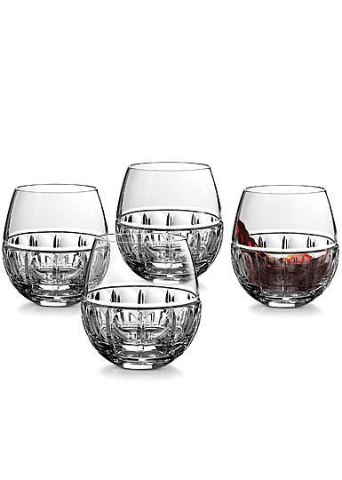 Waterford Bolton Stemless Red Wine Glasses, Set of Four