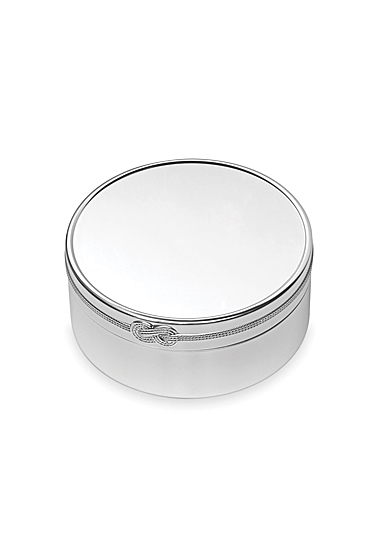 "Vera Wang Wedgwood Infinity 7.5"" Round Keepsake Box"