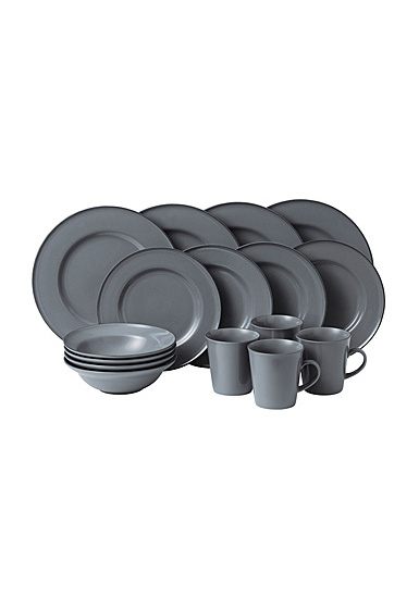 Royal Doulton Gordon Ramsay Union Street Cafe Grey 16- Piece Set