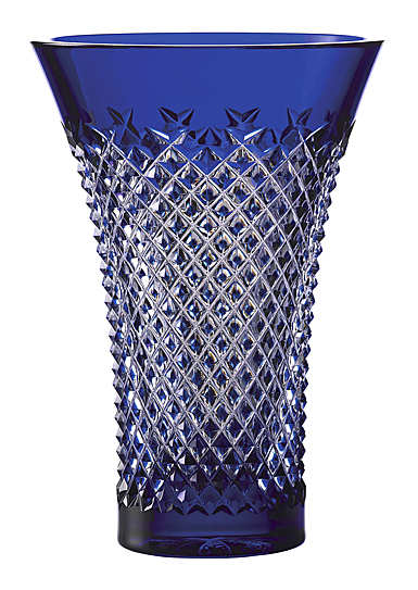 "House of Waterford Treasures of the Sea Alana 8"" Blue Flared Vase"