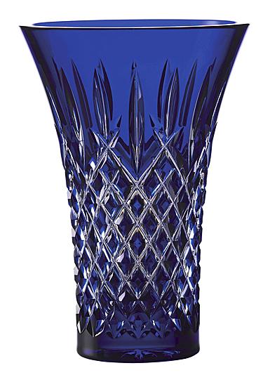 "Waterford Crystal Araglin Vase Flared 8"" Blue"