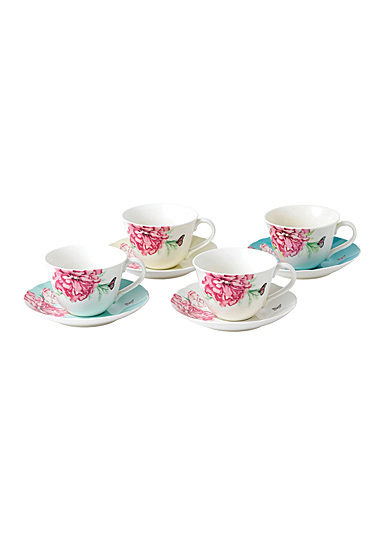 Royal Albert Everyday Friendship Teacup and Saucer Set Of 4