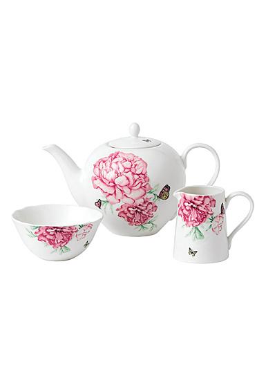 Royal Albert Everyday Friendship Teapot, Sugar and Creamer Set White