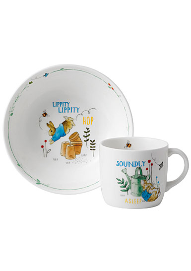 Wedgwood China Peter Rabbit Boy's 2-Piece Set, Bowl and Mug