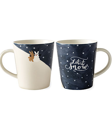 Royal Doulton 2018 Ellen DeGeneres Christmas Tree Let it Snow Mug, Single