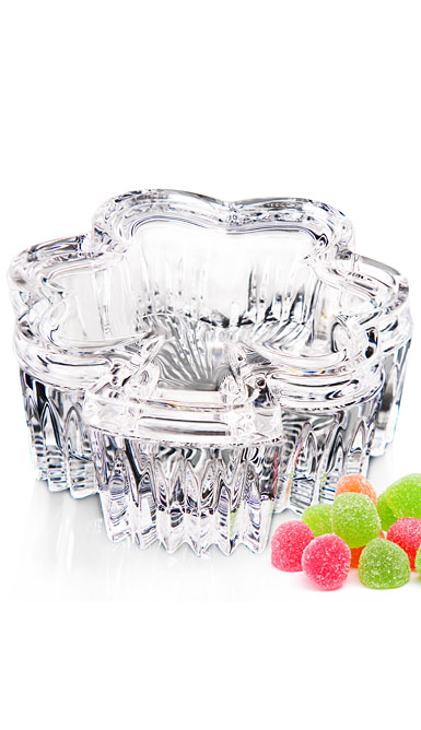 Waterford Crystal Irish Shamrock Covered Box