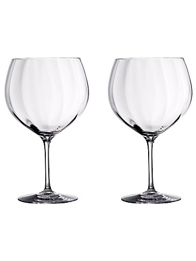 Waterford Crystal Gin Journeys Elegance Optic Balloon Glasses, Pair