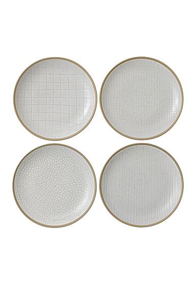 "Royal Doulton Gordon Ramsay Maze Grill White Salad Plate 9"" Set of 4 Mixed"