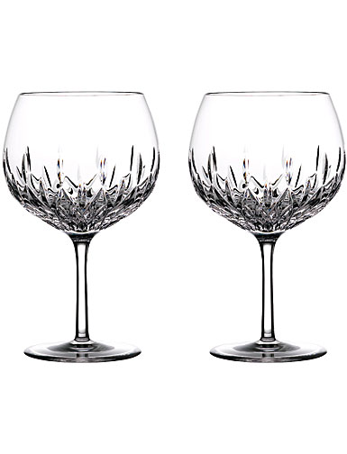 Waterford Crystal Gin Journeys Lismore Balloon Glasses, Pair