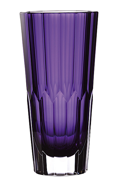 "Waterford Crystal Fleurology Jeff Leatham Icon Vase 12"" Amethyst"