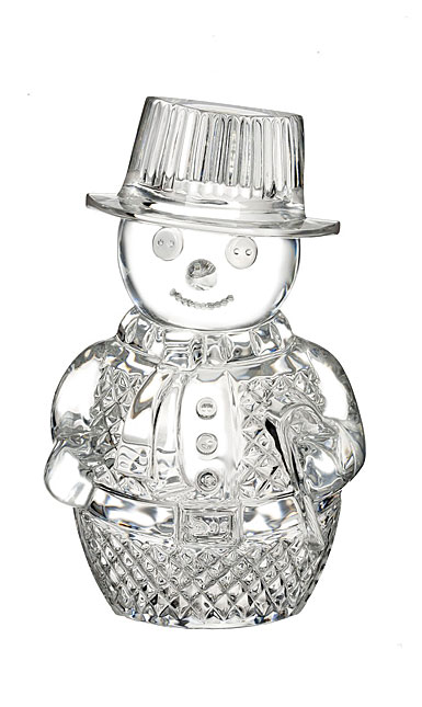 Waterford Crystal, Snowman Crystal Sculpture