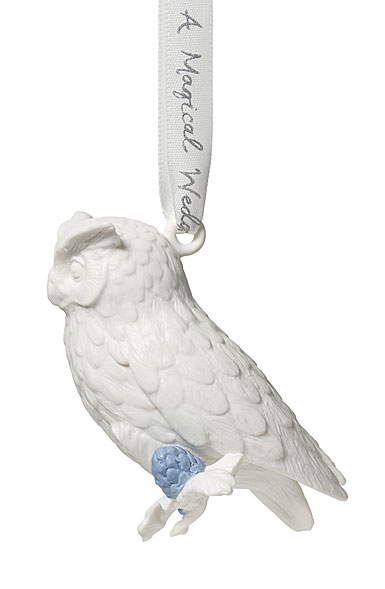 Wedgwood 2019 Figural Owl Christmas Ornament