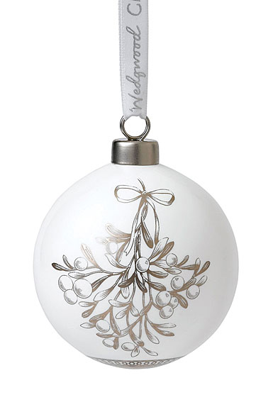 Wedgwood Fine Bone China Mistletoe Christmas Ornament