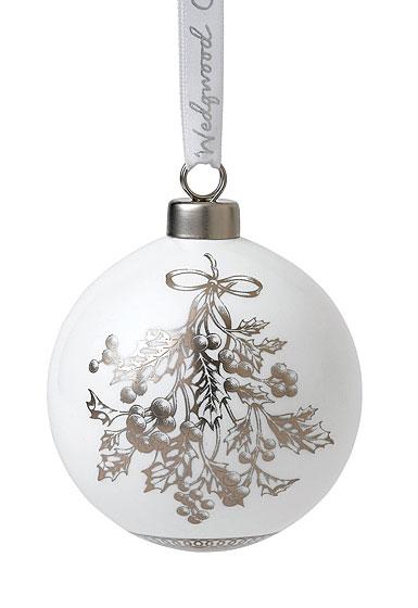Wedgwood 2019 Fine Bone China Holly Christmas Ornament