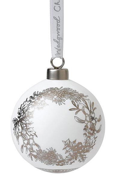 Wedgwood 2019 Fine Bone China Wreath Christmas Ornament
