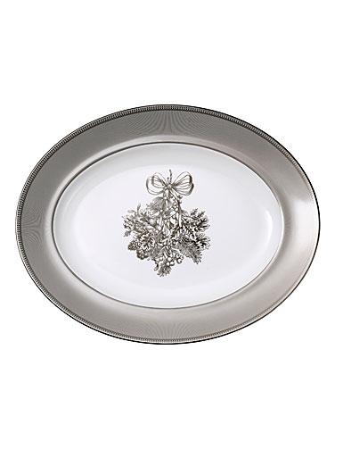 """Wedgwood 2019 Winter White Oval Platter 14"""""""