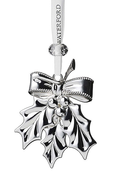 Waterford Crystal 2019 Silver Holly Christmas Ornament
