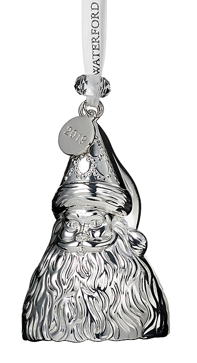 Waterford Crystal 2019 Silver Father Christmas Ornament