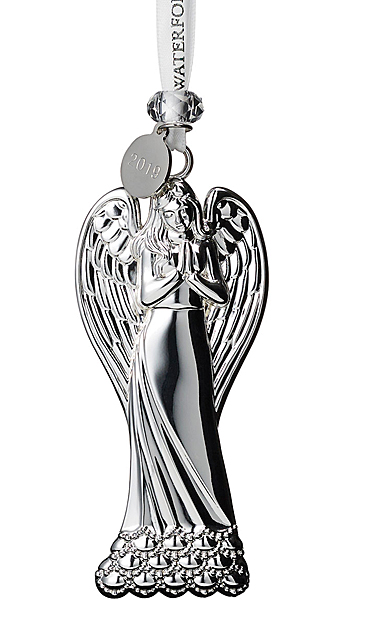 Waterford Crystal 2019 Silver Angel Christmas Ornament