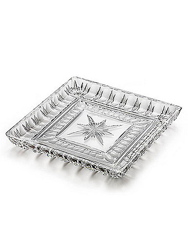 "Waterford Crystal Grafton Street Bolton 10"" Square Tray"