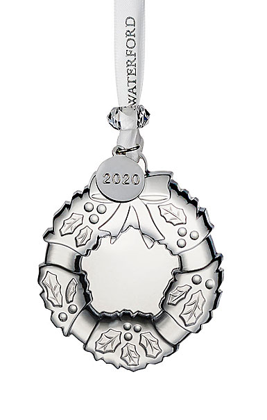 Waterford Crystal 2019 Mini Wreath Christmas Ornament