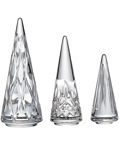 Waterford Crystal 2019 Christmas Tree Set of 3