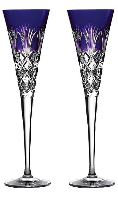 Waterford crystal 2020 times square flute pair ultra violet - Waterford crystal swimming pool times ...