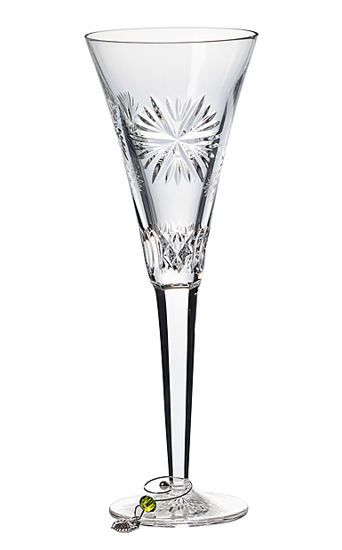 Waterford Crystal, 2019 Snowflake Wishes Prosperity Crystal Flute, Single