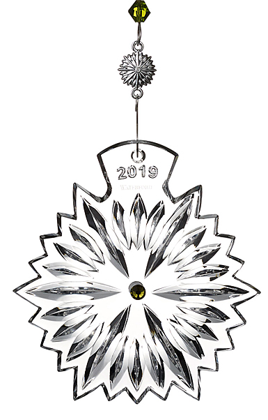 Waterford Crystal, Snowflake Wishes Crystal Ornament 2019, Lime Jewels